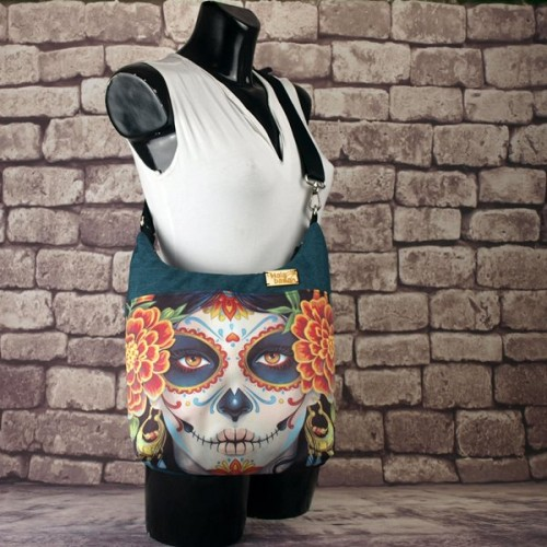 Bolso Bandolera Catrina Tropical Impermeable frontal